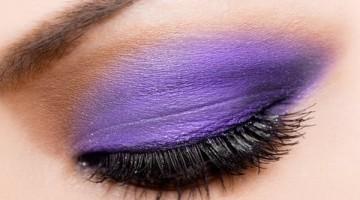 purple smoky eyes effect